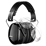 Mpow Safety Earmuffs, Professional Ear Protector with 2 Cratch Resistant Safety Glasses for Shooting, Firearms, Construction, Industrial, Hunting