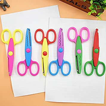 Zig Zag Craft Scissors Pack 3 For Kids Creative Crafts Art School