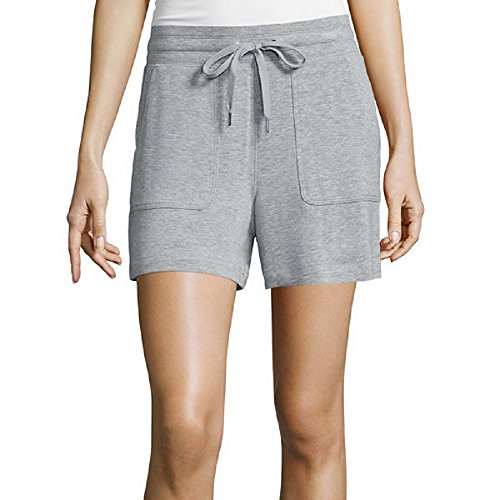 Liz Claiborne Light Gray Heather Knit Shorts XL (Liz Claiborne Womens Shorts)