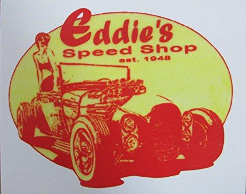 Eddie Sticker (Vintage Style Eddies Speed Shop Sticker Decal)