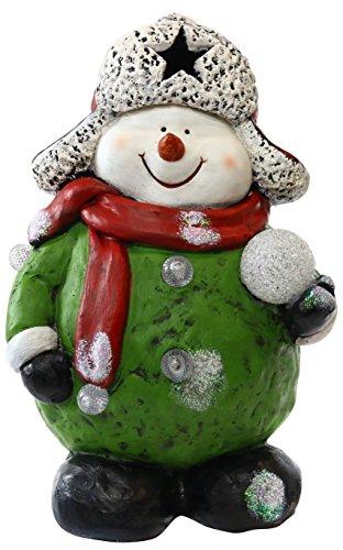 "Alpine Corporation AJY336 16"" Snowman Holding Snowball St..."