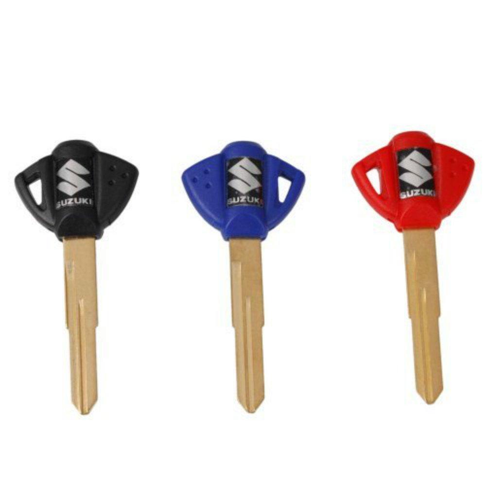 3x Motorcycle Blank Key Uncut Blade For Suzuki GSXR 600 750 1000 GSX1300R GSF 650