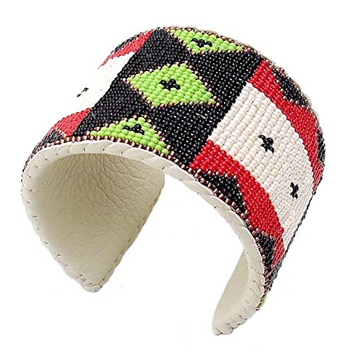 Men's Red Black Magic Eye Cuff Bracelet Leather Cowboy We...