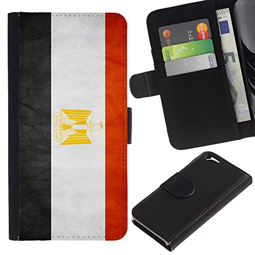 EuroCase - Apple Iphone 6 4.7 - Egypt Grunge Flag - Cuir PU Coverture Shell Armure Coque Coq Cas Etui Housse Case Cover
