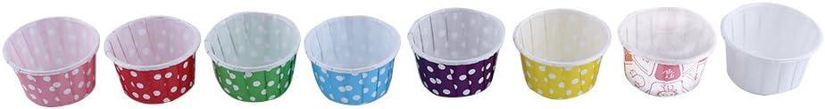 Fdit 100pcs Carta Torta Cupcake Liner Custodia Avvolgente Muffin Tazza di Cottura per la Festa Nuziale Xmas 7 Colori Blue