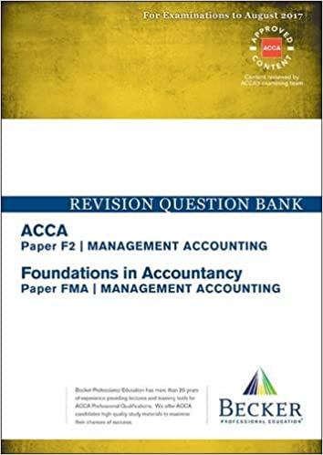 ACCA Approved - F2 Management Accounting (FIA: FMA
