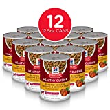 Hill's Science Diet Wet Dog Food, Adult, Healthy Cuisine, Roasted Chicken Carrots & Spinach Recipe, 12.5 oz Cans, 12 Pack Larger Image