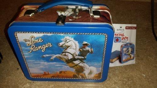 (The Lone Ranger Small Tin Lunch Box - Hallmark School Days)