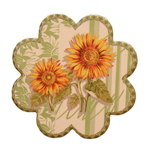 4 PCS, Villatic Cup Stand Tea Cup Mat Ceramic Saucer Cup Tray Flower Shapes