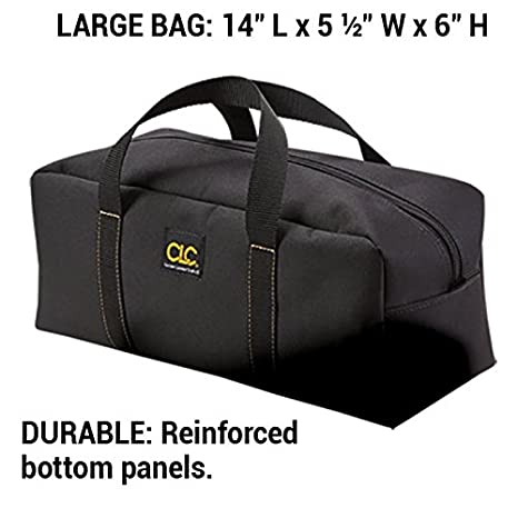 clc 1107 2 pack medium and large utility tote bag combo tool bags