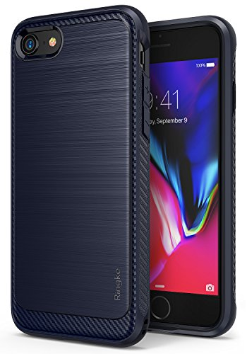 iPhone 7 / iPhone 8 Case, RIngke [Onyx] [Resilient Strength] Flexible Durability, Durable Anti-Slip, TPU Defensive Case for Apple iPhone 7 / iPhone 8 - Midnight (Midnight Onyx)