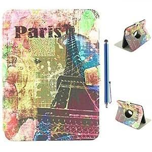 WEV Eiffel Tower Graffiti Design PU Leather Full Body Case and Capacitance Pen for Samsung Galaxy Tab 3 10.1 P5200