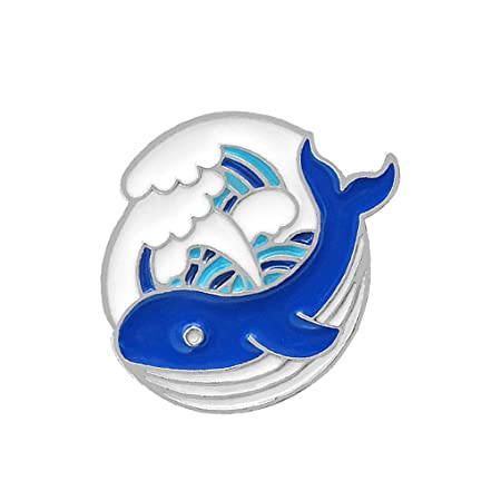 fish Chaqueta de Dibujos Animados Whale Ocean Broche de diseño de ...
