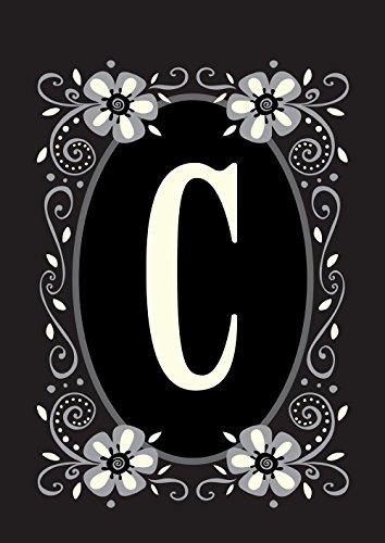 Toland Home Garden Classic Monogram C 28 x 40 Inch Decorativ