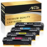 Arcon 4 Packs Compatible for HP 204A CF510A CF511A CF512A CF513A Toner Cartridge for HP M180nw, HP MFP M180nw, MFP M180nw, HP CF510A, M180nw, HP Color LaserJet Pro MFP M181fw M180nw Printer Cartridge