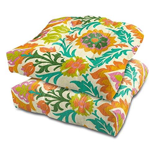 Stratford Home Outdoor Decorative Chair Cushion, Set of 2 (Santa Maria Mimosa) (Mimosa Furniture Outdoor)
