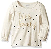 Crazy 8 Girls' Long-Sleeve Embellished Graphic Tee