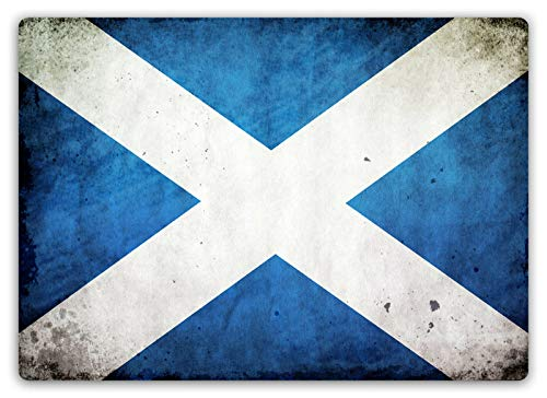 "onepicebest 8""x12"" Worn Scottish Flag - Metal Wall Plaque Art"