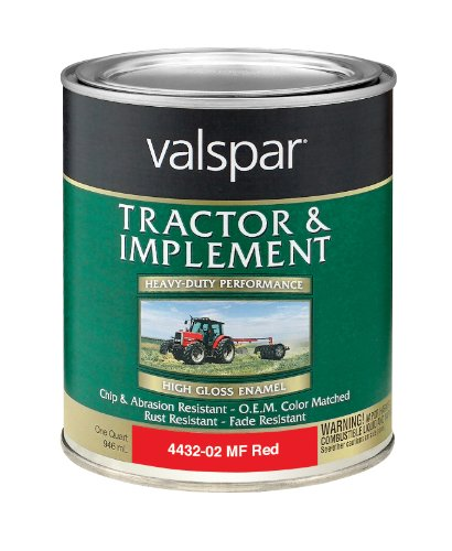 (Valspar 4432-02 Massey Ferguson Red Tractor and Implement Paint - 1 Quart)