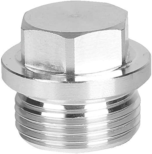 Joywayus Internal Hex Head Socket Pipe Plug M8x1 Thread Stainless Steel Pipe Fitting Rods by CNC