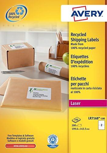 Avery España LR7168-100 - Pack de 100 folios de etiquetas ...