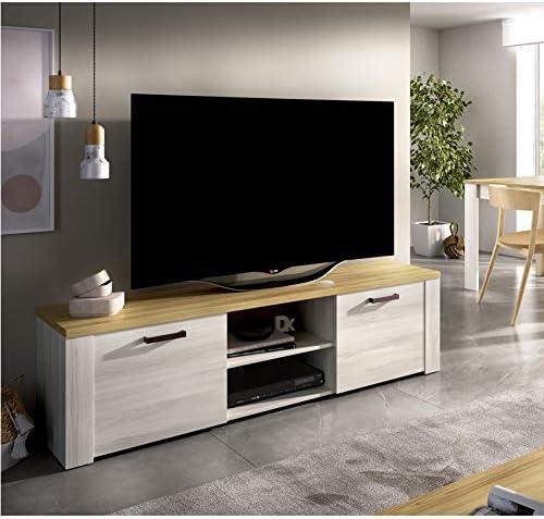 Color Fines y Milano Dimensiones 49 x 180 x 40 cm de Fondo HABITMOBEL Mueble televisi/ón de Comedor Moderno