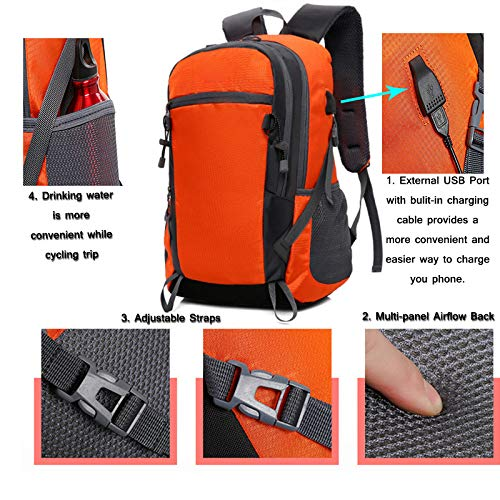 Travel Trip Theft With Backpack Durable Laptops Cycling Usb Canvas Port Anti Charging Red Fashion Slim On8HrwO
