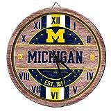 FOCO Michigan Wolverines NCAA Barrel Wall Clock