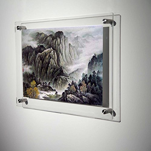 a3 wall mounted acrylic plexiglass poster frames floating lucite picture prints