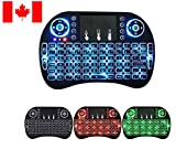2019 Mini Wireless Touch Keyboard,Handheld Remote,LED Backlit Compatible with Raspberry Pi 2/3,KODI,Android TV
