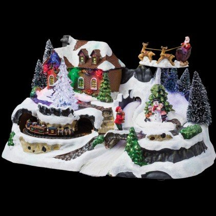 Village de Noël lumineux Le Train