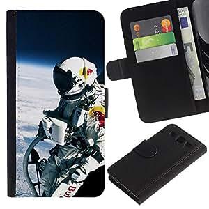 KLONGSHOP // Tirón de la caja Cartera de cuero con ranuras para tarjetas - Red Bll Espacio Jump - Samsung Galaxy S3 III I9300 //