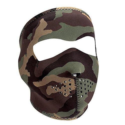 Neoprene Full Face Protection Mask for Winter Sports, Biker - WOODLAND CAMO