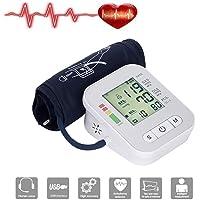 Bloeddrukmeter, Upper Arm Blood Pressure Machine met groot LED scherm en Voice Broadcast, met 2 Gebruikers 240 Memories, Thuisgebruik Upper Arm Meet Bloeddruk en hartslagmeter,No voice
