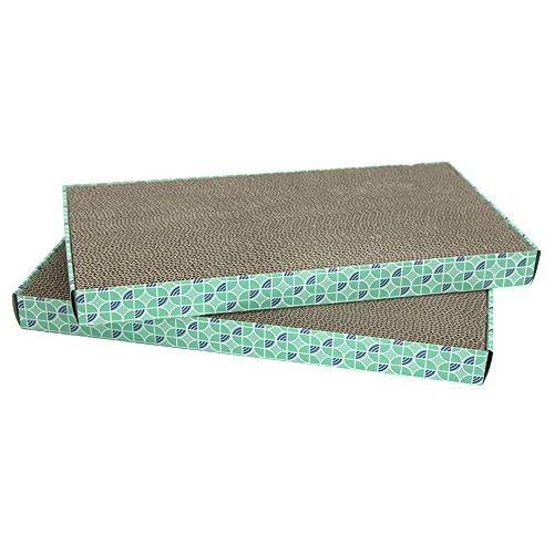 Kitty City XL Wide Corrugate Scratchers, 2 Piece(Longer Lasting Cardboard)