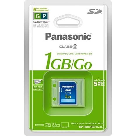 Amazon.com: Panasonic 1 GB SD tarjeta de memoria con SD ...