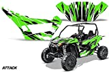AMRRACING Arctic Cat Wildcat Sport XT Full Custom UTV Graphics Decal Kit Attack Green