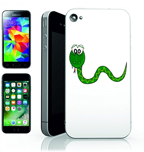 Smartphone Case animale di felice di rettile del serpente verde per Apple Iphone 4/4S, 5/5S, 5C, 6/6S, 7& Samsung Galaxy S4, S5, S6, S6Edge, S7, S7Edge Huawei HTC–Divertimento Motiv di culto I