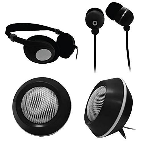 Craig Electronics CMA3224 3-In-1 Audio Combo Pack - Headphon