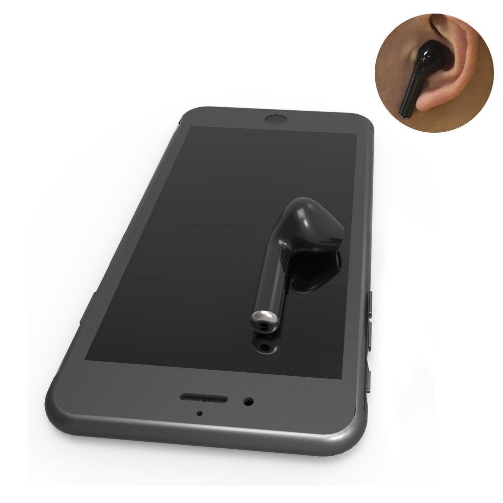Auricular inalámbrico Mini I7 con Bluetooth 4.1 Micrófono incorporado y llamadas manos libres para iPhone y Android Auriculares inteligentes Sistemas IOS y ...