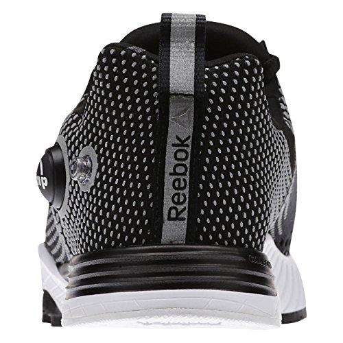 Reebok White Steel Sport Cardio Fusion Pump black Noir De Chaussures Gris Femme Blanc 1RqBU1