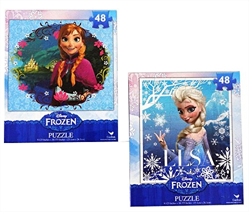 Frozen Princesses Anna and Elsa 48 Piece Puzzles (Set of 2 ()