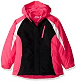 The Children's Place Big Girls' Solid 3-in-1 Jacket, Hot Gossip Neon, L (10/12)