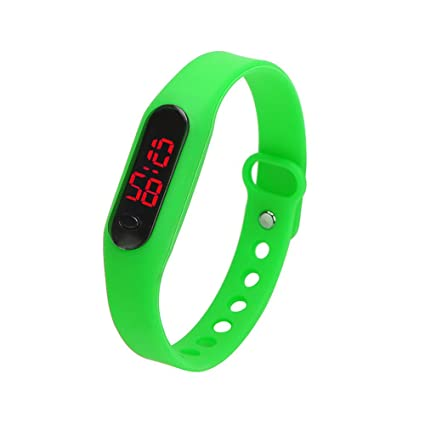AFfeco Sports Bracelet Watch Casual Date Sports Bracelet Digital Watch Unisex (Green)