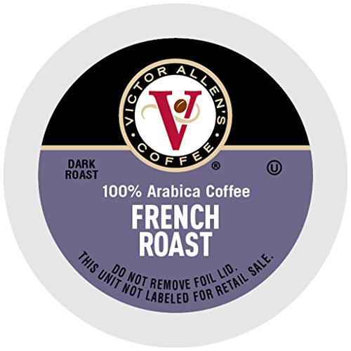 Victor Allen Coffee, French Roast Single Serve K-cup, 200 Count (Compatible with 2.0 Keurig Brewers) Allen Single