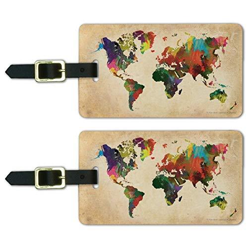Colorful Rainbow World Earth Luggage product image