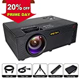 Video Projector | 2400 Lumens Home Video Projector | Mini Projector with Stand | Theater Projector Supports 1080P | HDMI AV USB Micro SD for Home Entertainment, Party