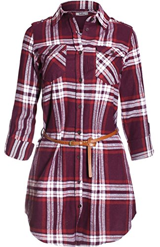flannel tunic dress - 5