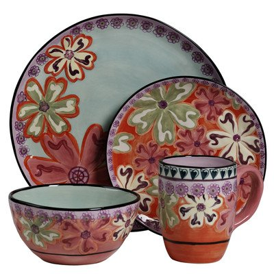 Hearts and Flowers 4 Piece Round Place Setting -
