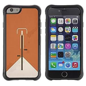 LASTONE PHONE CASE / Suave Silicona Caso Carcasa de Caucho Funda para Apple Iphone 6 / Bicycle Orange Hipster Minimalist Alternative